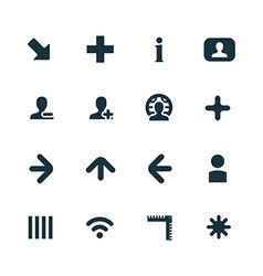 diagram icons set vector image