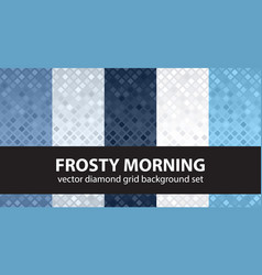 diamond pattern set frosty morning seamless vector image