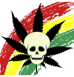 Eager marijuana vector image