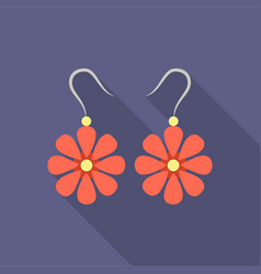 Earrings icon for web and vector