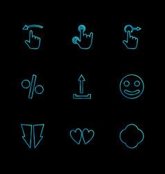 Emoji upload percentage hands pointer arrows vector