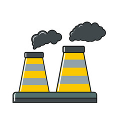 factory cartoon icon on white background vector image