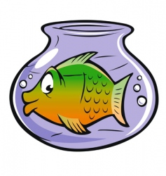 Fishbowl vector