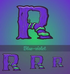 Halloween decorative alphabet - R letter vector