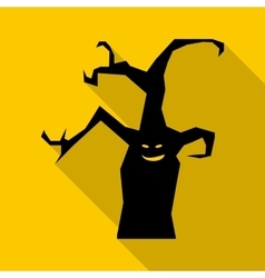 Halloween tree icon flat style vector