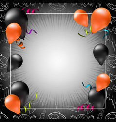 happy halloween greeting card poster or banner vector image