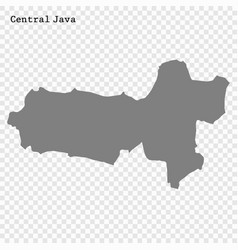High quality map is a province indonesia vector