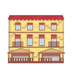 house architecture outline vector image