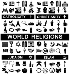 Icons for World Religions vector image