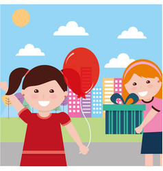 kids happy birthday vector image
