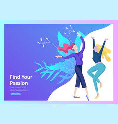 Landing page templates for hobby blog people vector