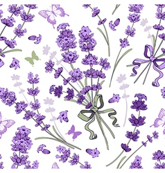 Lavender seamless pattern vector