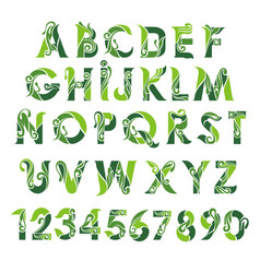 lettering alphabet design vector image