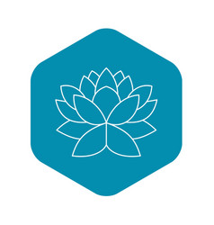 lotus flower icon outline style vector image