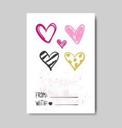 love greeting card hand drawn design sketch vector image