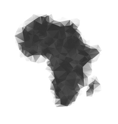 Map of Africa as polygonal mosaic vector image