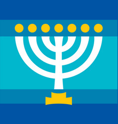 Menorah ancient hebrew sacred seven-candleholder vector