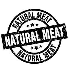 Natural meat round grunge black stamp vector