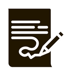Paper list and pencil icon vector