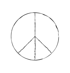 peace symbol icon friendship pacifism vector image