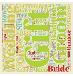 Perfect Gifts For Both The Bride and Groom text vector