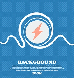 Photo flash icon sign Blue and white abstract vector image