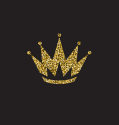 Queen crown royal gold headdress king golden vector