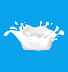 realistic detailed 3d milk splash decor element vector image
