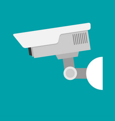security camera flat vector image