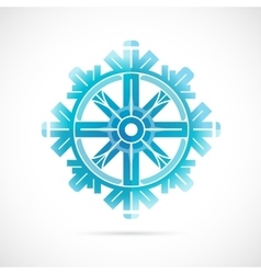 Snowflake as symbol for winter holidays vector