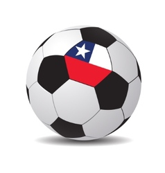 soccer ball with the flag of Chile vector image