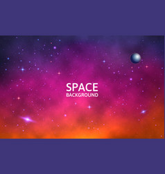 Space background colorful galaxy with nebula vector