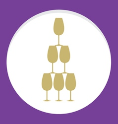 Stack Of Wine Glass Celebration Concept vector