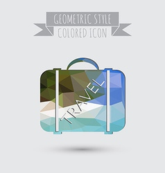 symbol of a suitcase for travel Travel Bag vector image