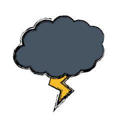 Thunder and cloud icon vector