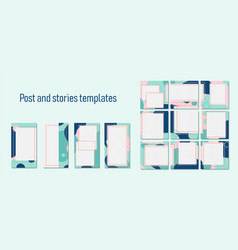 Trendy template for social networks stories and vector