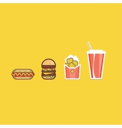 various american food items vector image
