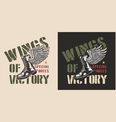 vintage military colorful logo vector image