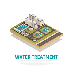 Water treatment isometric composition vector
