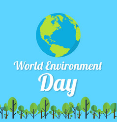 Word environment day design earth vector