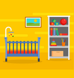 yellow baby room background flat style vector image