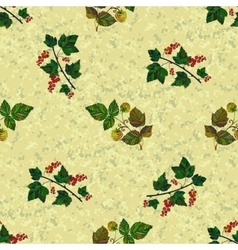 Colored currant and raspberry seamless pattern vector image