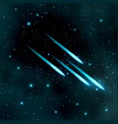 comet in the starry sky vector image