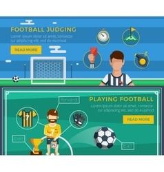 Football Banner Set vector image vector image