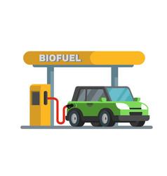 gas petroleum petrol refill station vector image