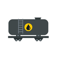 gasoline railroad tanker icon flat style vector image vector image