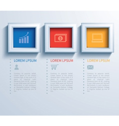 paper square infographic vector image vector image