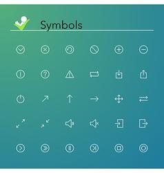 Symbols line icons vector