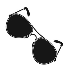 aviator sunglasses icon in black style isolated on vector image vector image