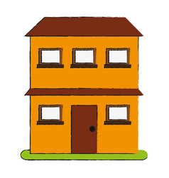 City building with two stories icon imag vector
